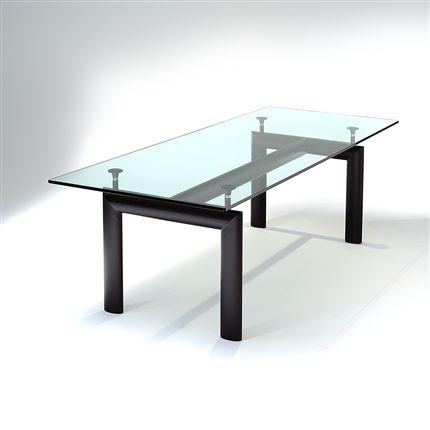 Tecto produto mais design mesa lc 6 jantar retangular for Mesa cristal le corbusier
