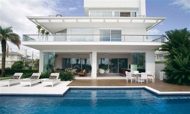 Tecto projetos residencial residencial jurer for Piscina residencial