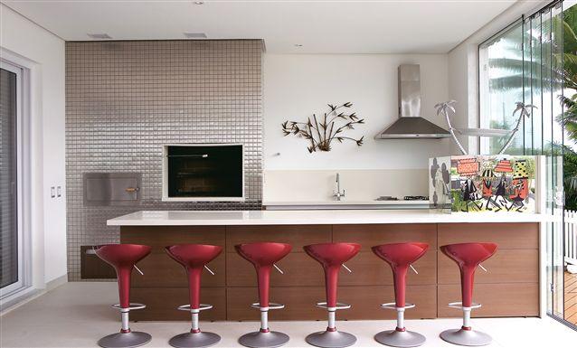 Tecto  Projetos  Residencial  Residencial Jurerê Internacional  Churrasqu # Cozinha Planejada Com Churrasqueira