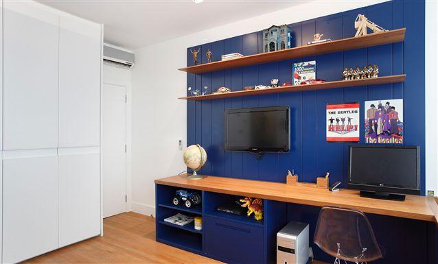 Tecto Projetos Residencial Apartamento Rio de  ~ Quarto Solteiro Com Escritorio