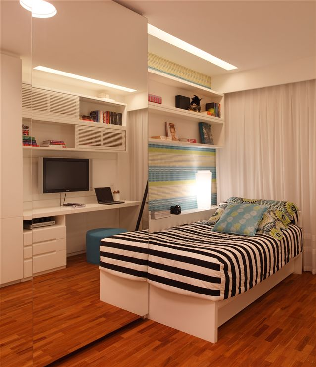 planejados m veis planejados para quartos quarto decorado  ~ Quarto Solteiro Decorado